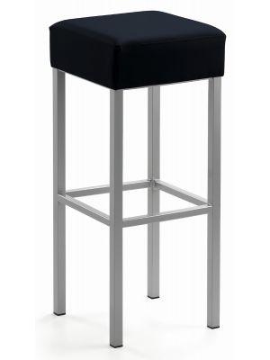 24Designs Barkruk Russel - Zithoogte 81 cm - Zwart Kunstleer