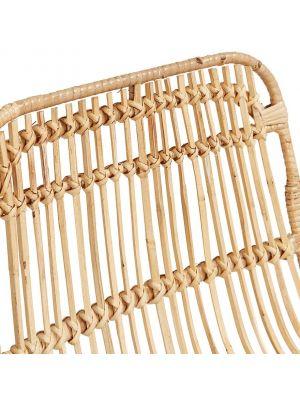 24Designs Barkruk Vallarta - Zithoogte 75 cm - Rotan Zitting - Zwart Metalen Onderstel