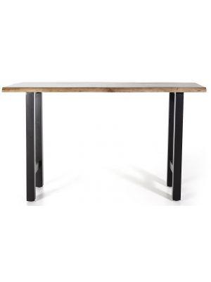24Designs Walker Bartafel - L150 x B50 x H90 cm - Tafelblad Acacia Hout - Zwart Metalen Poten