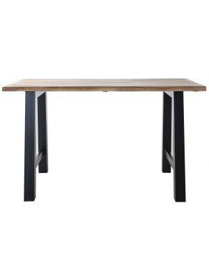 24Designs Walker Bartafel - L150 x B80 x H90 cm - Tafelblad Acacia Hout - Zwart Metalen Poten