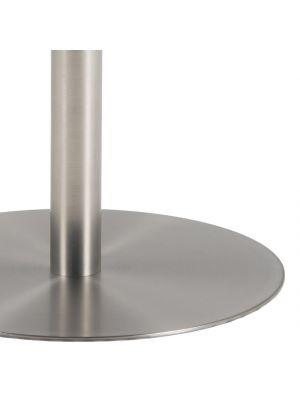 24Designs Bellino Ronde Eettafel 3 a 4 personen - Diameter 105 cm - Wit Marmer - Mat Chroom