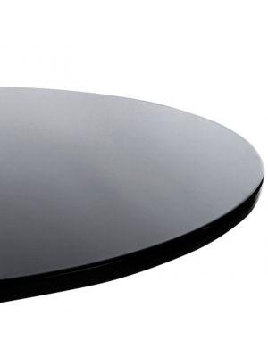 24Designs Bijzettafel Popa - Zwart Tafelblad - Chromen Onderstel