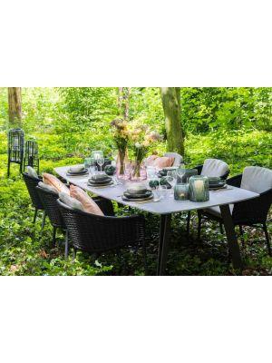 24Designs Bilbao Tuin & Terrasstoel - Set van 2 - Antracietgrijs Textileen incl. zitkussen