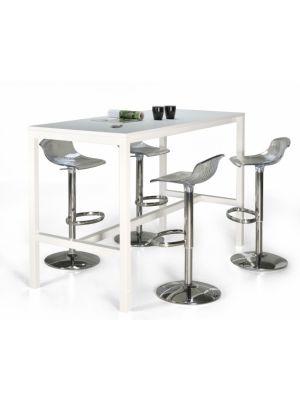 24Designs Hoge Bartafel Werktafel en Statafel Block - L200 x B60 x H110 cm - Wit