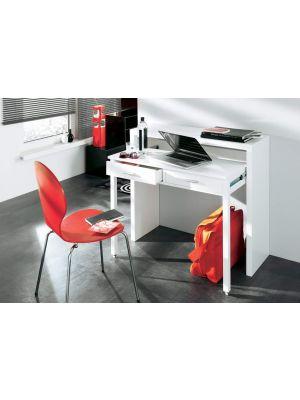 24Designs Chris Bureau 2-Laden - B100 x D36 x H88 cm - Wit