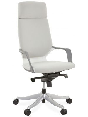24Designs Babell Bureaustoel - Stof Grijs - Aluminium Onderstel