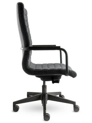 24Designs Bergamo Bureaustoel - Stof Grijs - Zwarte Kunststof Kruispoot