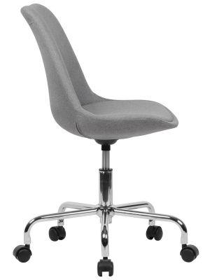 24Designs Bureaustoel Dex Office - Kuipzitting Stof Grijs - Kruispoot op wielen