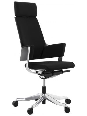 24Designs Empoli Bureaustoel - Stof Zwart - Aluminium Onderstel