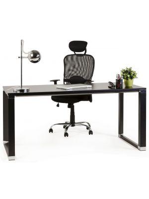 24Designs Rivoli Bureaustoel - Mesh Zwart - Verchroomd Metalen Onderstel