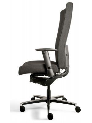24Designs Georgetown XL tot 200 kg Ergonomische Bureaustoel EN1335 - Stof Zwart