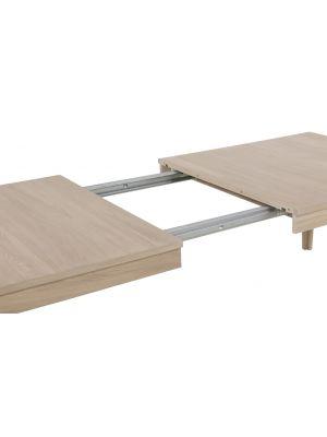 24Designs Nordic Uitschuifbare Eettafel 220/320x100x75 - Eiken White Wash