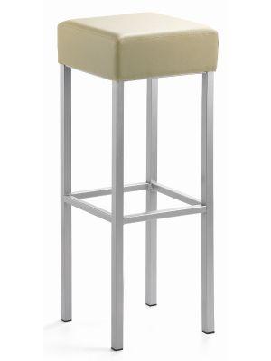24Designs Extra Hoge Barkruk Russel - Zithoogte 91 cm - Beige Kunstleer