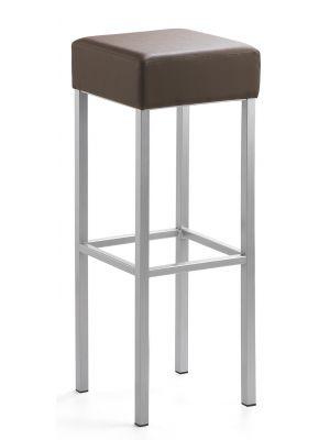 24Designs Extra Hoge Barkruk Russel - Zithoogte 91 cm - Bruin Kunstleer