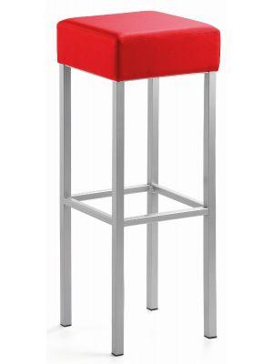 24Designs Extra Hoge Barkruk Russel - Zithoogte 91 cm - Rood Kunstleer