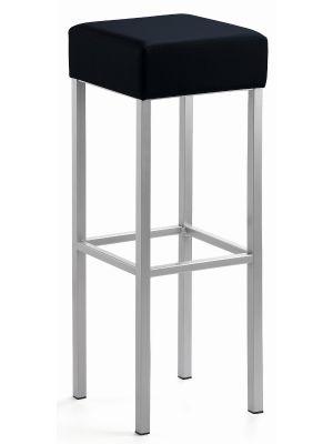 24Designs Extra Hoge Barkruk Russel - Zithoogte 91 cm - Zwart Kunstleer