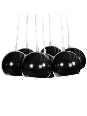 24Designs Hanglamp Seven - Zwarte Bollen