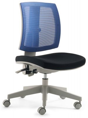 24Designs Kinderbureaustoel Flexis - Stof Blauw/Zwart