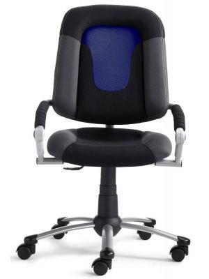 24Designs Kinderbureaustoel High Skool - Stof Blauw/Zwart