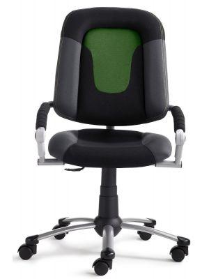 24Designs Kinderbureaustoel High Skool - Stof Groen/Zwart