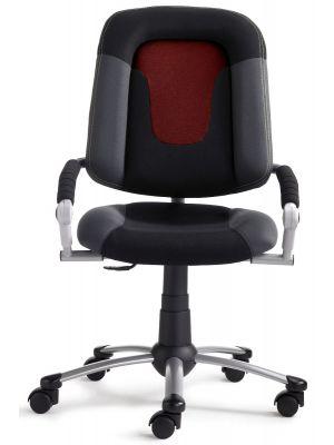 24Designs Kinderbureaustoel High Skool - Stof Rood/Zwart