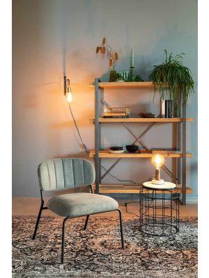 24Designs Arliss Lounge Fauteuil - Set van 2 - Stof Donkergroen - Goudkleurig Metaal