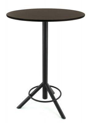 24Designs Melvin Ronde Statafel H110 cm - Ø60 Tafelblad Vintage Hout - Zwart Onderstel