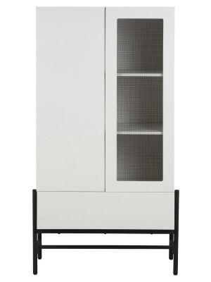 24Designs Norway Kast 2-Deurs/1-Lade - B80 x D42 x H150 cm - Wit