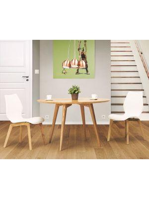 24Designs Sami Ronde Eettafel 4 a 5 Personen - 120 x H75 cm - Essenhout Naturel