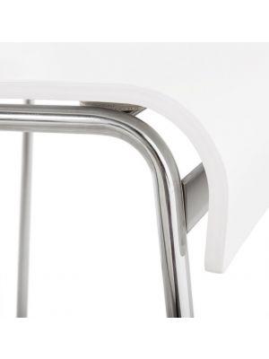 24Designs Barkruk Smooth - Zithoogte 74 cm - Witte Houten Zitting