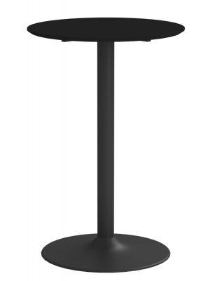 24Designs Ronde Statafel Thema Ø70x105 - Zwart HPL Tafelblad - Mat Zwart Onderstel
