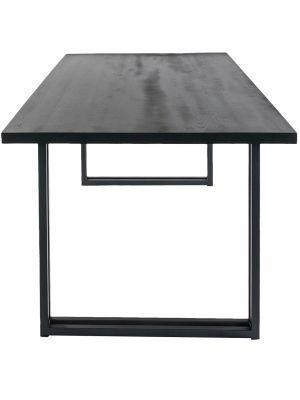 24Designs Proud Eettafel – L200 x B100 x H77 cm – Zwart Eikenhout – Zwart Onderstel