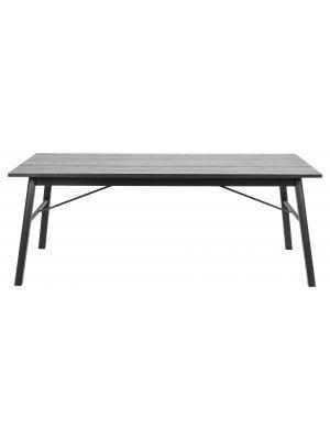 24Designs Verlengbare Tafel Split - L200/290 x B100 x H75 cm - Eikenhout fineer - Zwart Gebeitst Inclusief 2 Verlengstukken