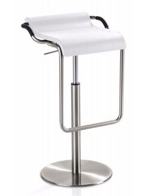 24Designs Verstelbare Barkruk Easton - Zithoogte 62 - 90 cm - Wit