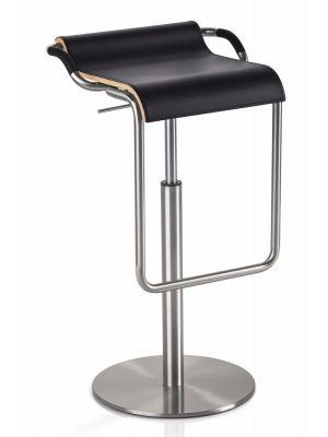 24Designs Verstelbare Barkruk Easton - Zithoogte 62 - 90 cm - Zwart Leer