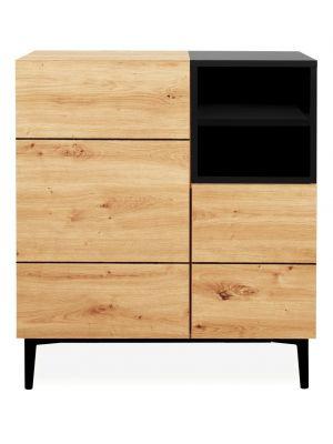 24Designs Bodio Wandkast 2-Deurs - B80 x D42 x H90 cm - Eiken Decor