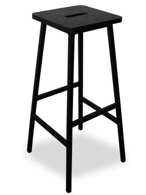 24Designs Bistro Barkruk - Zithoogte 79 cm - Zwarte Zitting