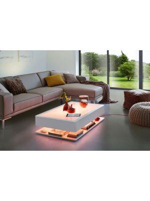 Moree Ora Home LED Pro Salontafel - L110 x B70 x H29 cm - Wit