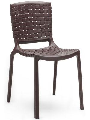 Pedrali Tatami 305 Stapelbare Stoel - Set van 4 - Kunststof - Bruin