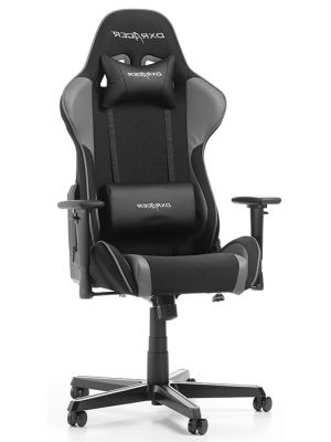 DXRacer Formula-series Game & Bureaustoel - Zwarte Stof - Grijs PU