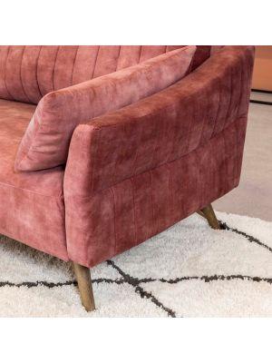 24Designs Brave 3-zits Velvet Bank – Oud Roze Fluweel