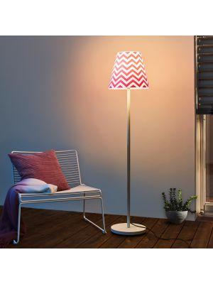 Moree SWAP Buitenlamp - Ø35 cm x H150 cm - Wit/Roze