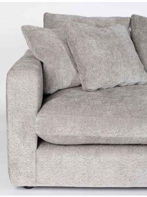Zuiver Sense 3-Zits Bank - Breedte 266 cm - Stof Light Grey Soft