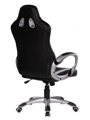 24Designs Rens Bureaustoel & Gamestoel - Kunstleer - Zwart