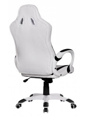 24Designs Rens Bureaustoel & Gamestoel - Kunstleer - Wit