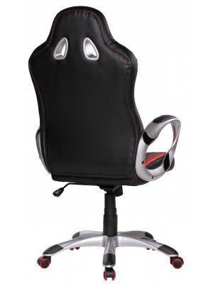 24Designs Rens Bureaustoel & Gamestoel - Kunstleer - Zwart/Rood