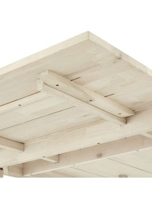 24Designs Verlengstuk Texas Eettafel - L50 x B100 cm - Massief Eikenhout