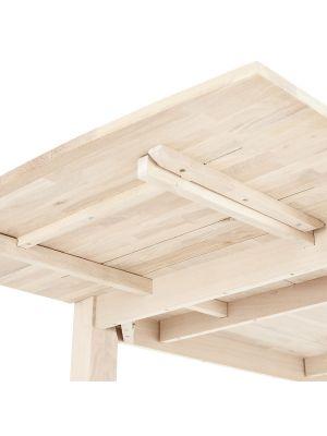 24Designs Paris Eettafel Verlengstuk - L50 x B100 cm - Massief Eikenhout - White Wash
