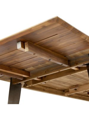 24Designs Malaga Eettafel Verlengstuk - L50 x B100 cm - Massief Acaciahout