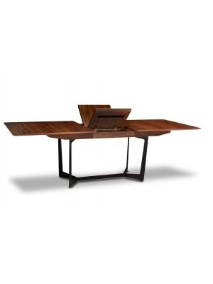 24Designs Tokyo Eettafel Vergadertafel - Verlengbaar L200-250 cm - Amerikaans Walnotenfineer - Bruin